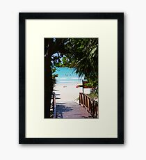 The bridge to paradise (Cuba) Framed Print
