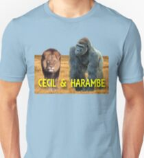 Harambe and Cecil Together T-Shirt
