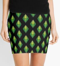 Green Diamond Mini Skirt