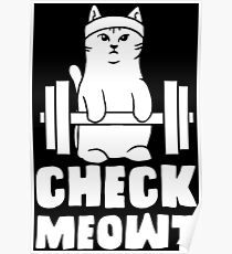 gym cat workout motivation kitty fitness weight good Poster
