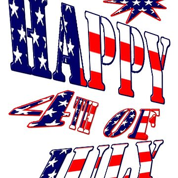 Happy 4th of July-  Art + Products Design  by haya1812
