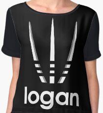 logan style movie parody logo Women's Chiffon Top
