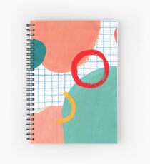 Abstract figures Spiral Notebook