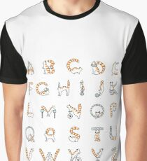 Circus cat alphabet Graphic T-Shirt