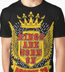 Kings Are Born On August 20 Leo Graphic T-Shirt