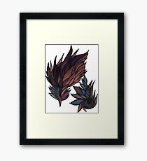 feathery abstract Framed Print