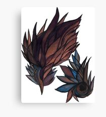 feathery abstract Canvas Print