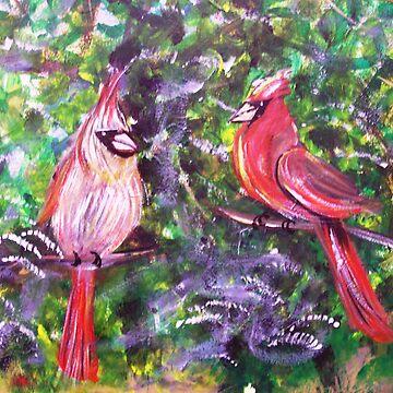 Kentucky Cardinals by Gretchen Smith by tallartist