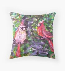 Kentucky Cardinals by Gretchen Smith Throw Pillow