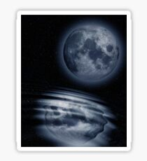 Moon and Water Sticker