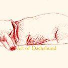 Art of Dachshund - Sleeping Dachshund by dvampyrelestat