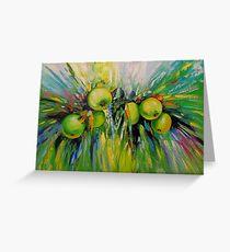 Juicy apples Greeting Card