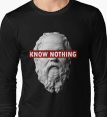 KNOW NOTHING SOCRATES humor funny slogan philosophy censored T-Shirt