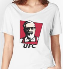 UFC KFC Shirt - Black Font Women's Relaxed Fit T-Shirt