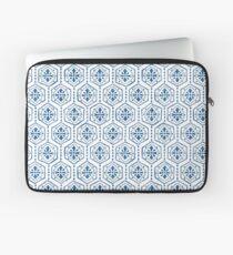 Lyonesse Hexagon Lapis Blue Laptop Sleeve