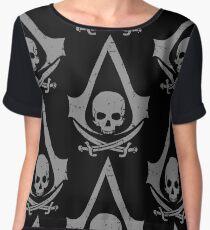 Pirate skull Women's Chiffon Top