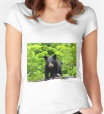 Canadian Bear Cub  Women's Fitted Scoop T-Shirt