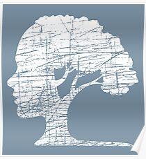 Psychologie-Baum-einzigartiges Symbol-Umweltphilosophie Poster
