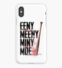 eeny meeny miny moe bat tv show scary blood kill  iPhone Case/Skin