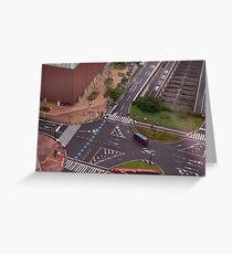 Urban Crosswalk Greeting Card
