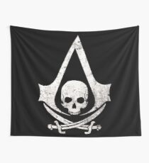 Pirate skull Wall Tapestry