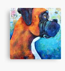 Boxer and the Bee Canvas Print