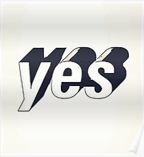 Yes typography Poster