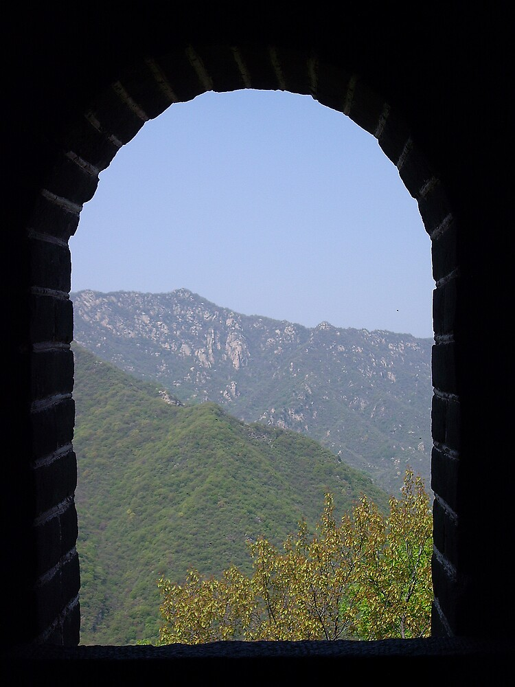 View through the Great Wall , China by kerry625
