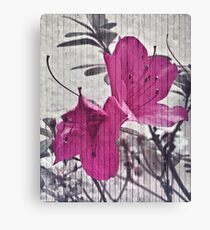 Vintage Style Flower Photo Canvas Print