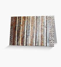 Mosaic like a rag carpet Pompeii Greeting Card