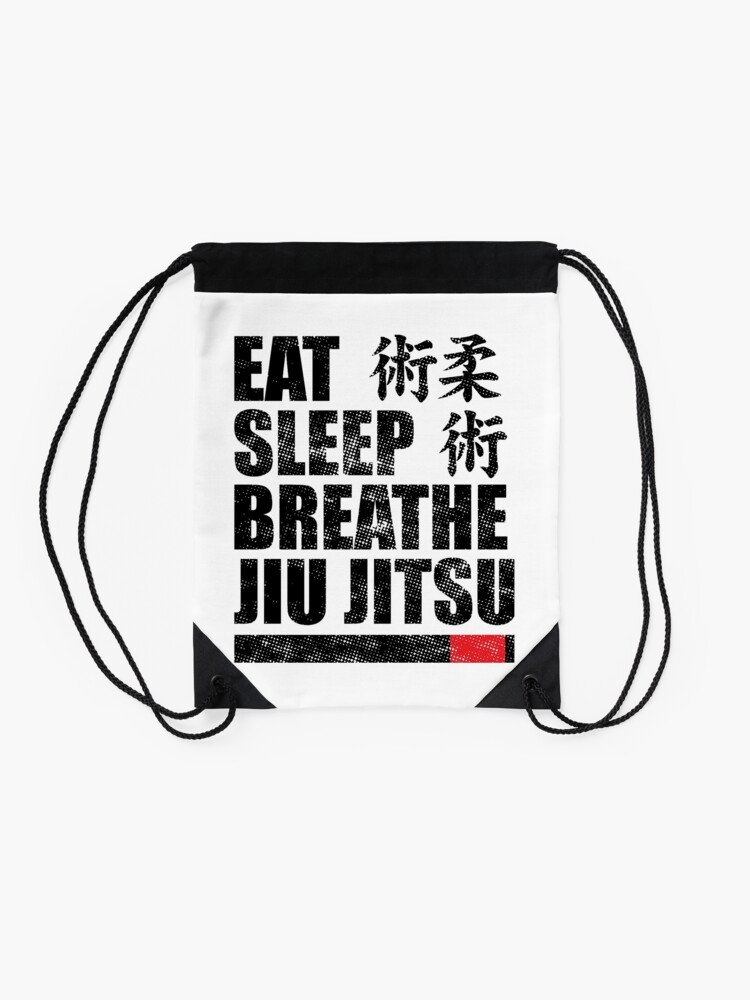Alternative Ansicht von Essen Sie Schlaf Atmen Jiu Jitsu Turnbeutel