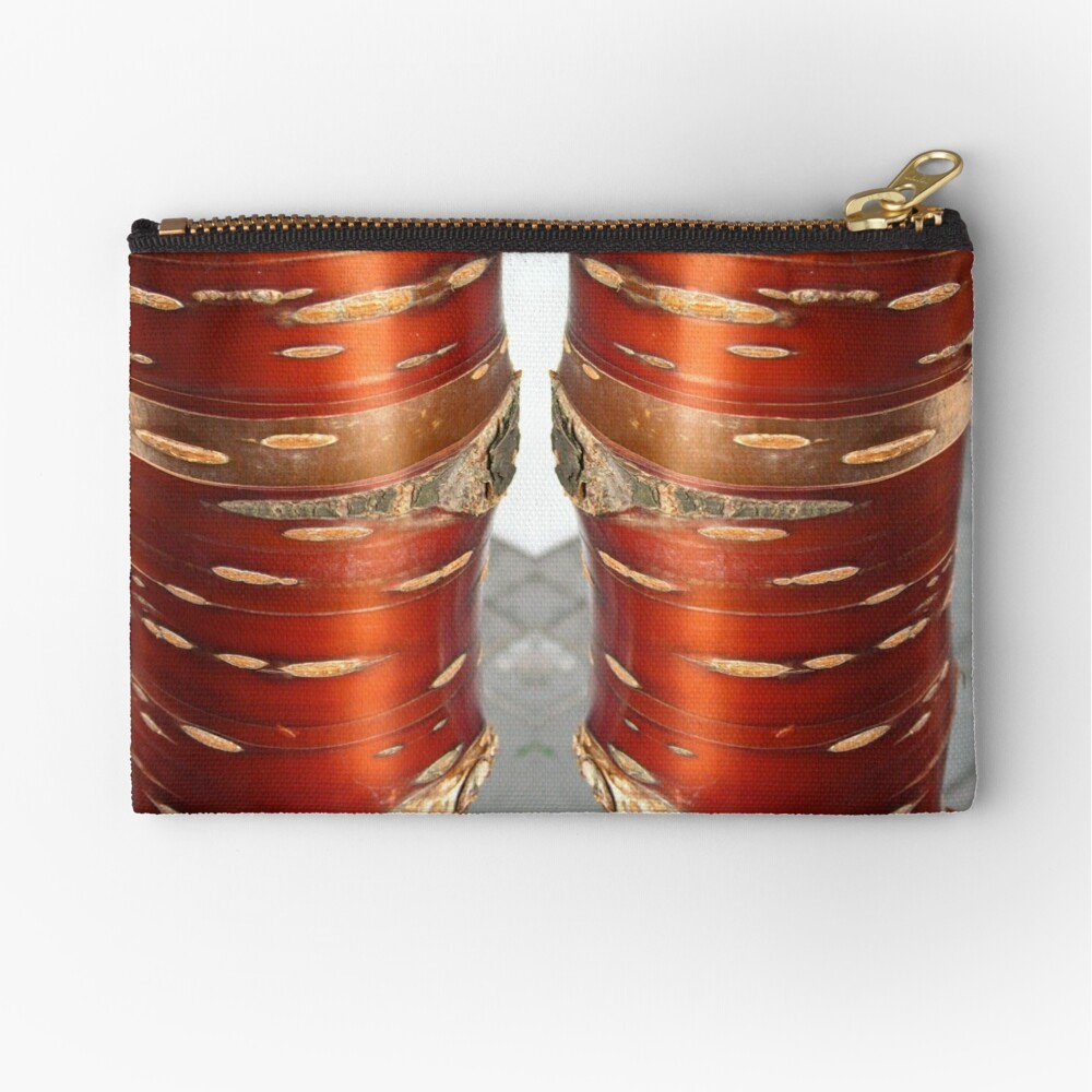 Birch Tree Trunk Zipper Pouch
