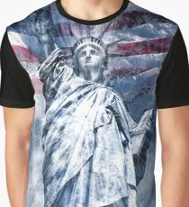 Modern-Art STATUE OF LIBERTY | blue Graphic T-Shirt