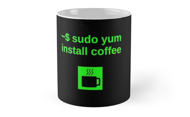 Linux sudo yum install coffee by boscorat