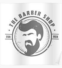 Barber Shop Badge Poster