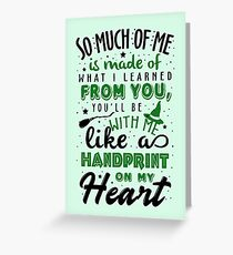 Handprint On My Heart Greeting Card