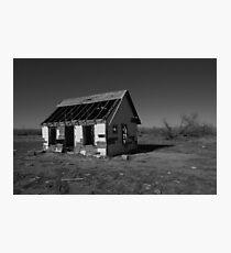 Lonely Desert House Photographic Print