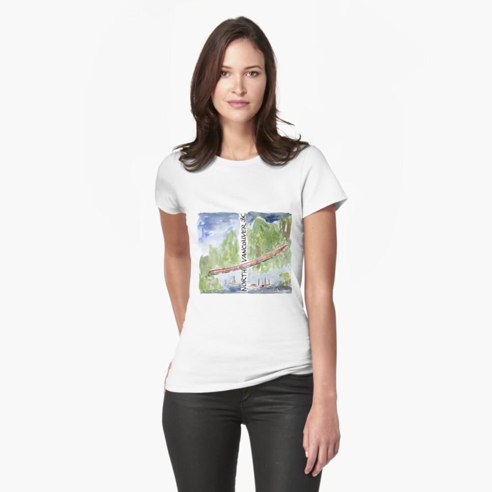 Capilano Suspension Bridge, North Vancouver Fitted T-Shirt