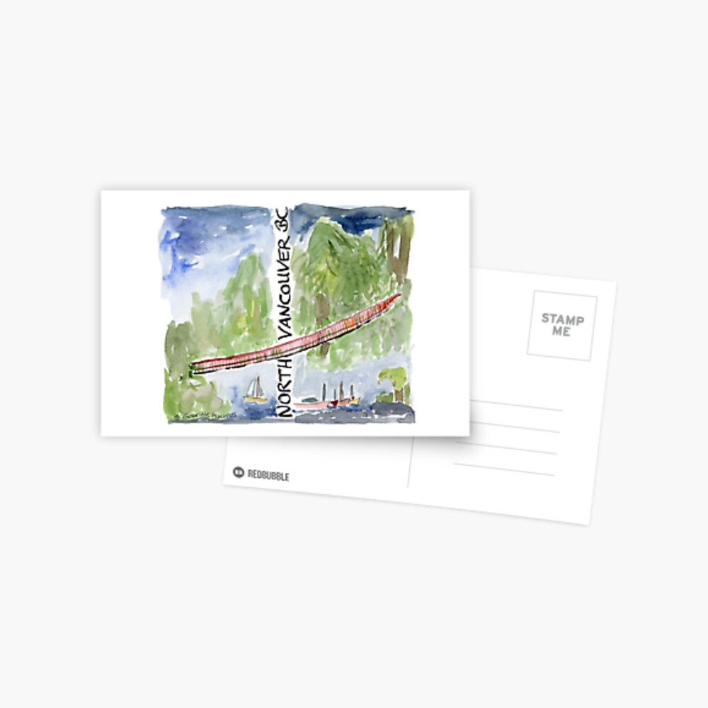 Capilano Suspension Bridge, North Vancouver Postcard