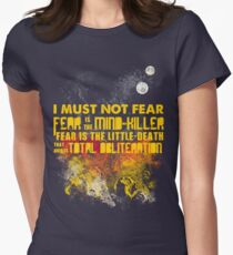 Litany Against Fear Women's Fitted T-Shirt