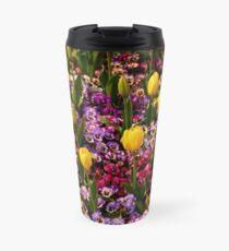 Tulips Among Pansies Travel Mug