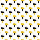 Yellow and Black Thunderclouds pattern by jezkemp