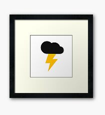 Yellow and Black Thunderclouds pattern Framed Print