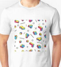Memphis style seamless pattern. Unisex T-Shirt