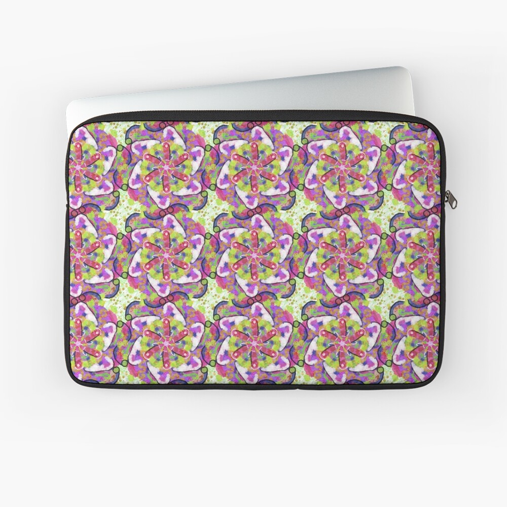 Atomic Pattern 1 Laptop Sleeve