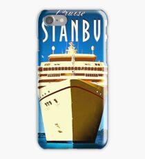Istanbul, cruising ship, Turkey, vintage travel poster iPhone Case/Skin