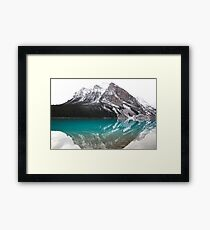 Mountainous Reflection  Framed Print
