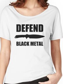 Defend Black Metal Women's Relaxed Fit T-Shirt