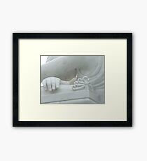 Face of a Mourning Angel Framed Print