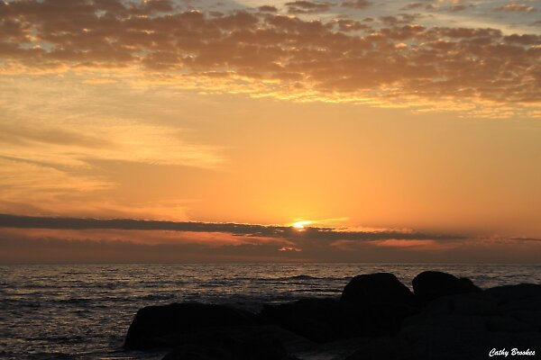 Sunset at Camps Bay by CathyBrookes